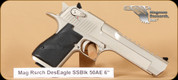 Magnum Research - Desert Eagle MXIX - 50AE - Satin Nickel, 6""