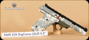 S&W - 22A - 22LR - Digital Camo, Adjust. Sights, 5.5""