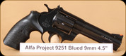 Alfa Proj - Mod 9251 - 9mm - Classic, Blued, 4.5""