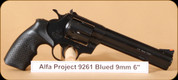 Alfa Proj - Mod 9261 - 9mm - Classic, Blued, 6""
