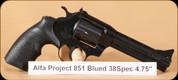 "Alfa Proj - Mod 851 - 38Spl - Blued, 5"""
