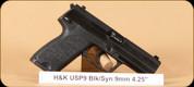 "H&K - USP9 V1 - 9mm - BlkSyn, 4.25"""