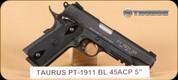 "Taurus - PT1911 - 45ACP -Bl/BlkSyn, 5"""