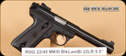 """Ruger - MKIII - 22LR - 22-45, BlkLam/Bl, 5.5"""""""