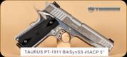 "Taurus - PT1911 - 45ACP - Blk/Polished SS, 5"""