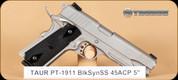 "Taurus - PT1911 - 45ACP - BlkSyn/SS, integrated rail, 5"""