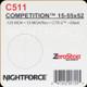 NIGHTFORCE - 15-55X52 COMPETITION - ZEROSTOP - .125 MOA - 10MOA/REV - CTR-2 - BLACK - C511