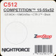 NIGHTFORCE - 15-55X52 COMPETITION - ZEROSTOP - .125 MOA - 10MOA/REV - CTR-3 - BLACK - C512