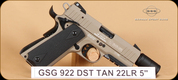 "GSG - 922 - 22LR - Desert Tan, 5"""