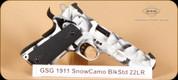 """GSG - 1911 - 22LR - Snow Camo, 5"""""""
