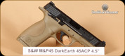 S&W - M&P45 - 45ACP - Dark Earth, 4.5""