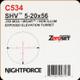 NIGHTFORCE - SHV - 5-20x56 - ZeroSet - .25 MOA - Non-Illuminated - MOAR - C534