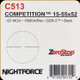 NIGHTFORCE - 15-55X52 COMPETITION - ZEROSTOP - .125 MOA - DDR-2 - BLACK - C513