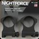 "NightForce - XTRM - Ring Set - 1.375"" X-High - 30mm - Steel - A109"