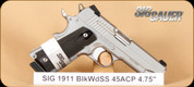 SIG - 1911 Carry - 45ACP - BlkWd/SS, 4.2""
