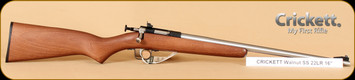 Crickett - 22LR - Walnut Finish SS, 16""