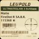 Leupold - Ultimate Slam - 3-9x40mm - FireDot Matte - FireDot SA.B.R.