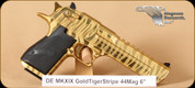 Magnum Research - Desert Eagle MKXIX - 44Mag - Gold, Tiger Stripe, 6""