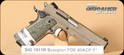 SIG - 1911 Scorpion - 45ACP - FDE, Accessory Rail, 5""
