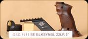 "GSG - 1911 - 22LR - Special Edition, Mini Red Dot sight, wd target grips, bridge mount, 5"""