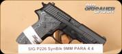 "SIG - P226 - 9mm - Extreme, Hogue G10 Piranha/Blk, night sights, 4.4"""