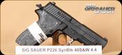 "SIG - P226 - 40S&W - Extreme, Hogue G10 Piranha/Blk, night sights, 4.4"""