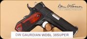 "Dan Wesson - Guardian - 38Super - Stippled ShadowGrips/Blued, Bobtail frame, 4.25"""