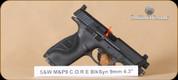 "S&W - M&P9 - 9mm - CORE optic ready slide, Black, 4.25"""