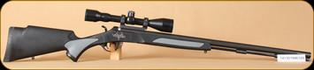 """Consign - Traditions - 50cal - Vortek - BlkSynMatte, 28"""", Mueller 3-10x44, black powder rifle"""