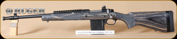 "Ruger - M77 - 5.56NATO/223Rem - Scout, BlkLamBL, 16"", threaded barrel, flash hider, LH - Left Hand"