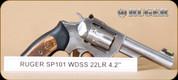 """Ruger - SP101 - 22LR - Wd/SS, 4.2"""""""