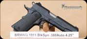 """Browning - 1911-380 - 380ACP - Black Label series, BlkSyn, 4.25"""""""