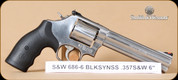 """S&W - 686 - 357Mag - BlkSynSS, """"Plus"""" Distinguished Combat, 6"""""""