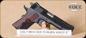"Colt - Wiley Clapp Govt - 45ACP - Lam/Bl, Series 70, national match barrel, 5"""