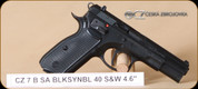 CZ - 75B - 40S&W - BlkSyn/Blk Polycoat, single action, drop free magazine, 2 mags, 4.7""