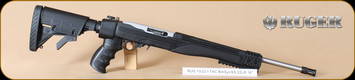 Ruger - 10/22 - 22LR - TALO exclusive, I-TAC, BlkSyn/SS, 6 pos. ATI folding stock, flash suppressor, 10rd rotary mag, 16.125""