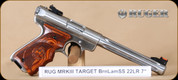 "Ruger - MKIII Target - 22LR - Lam Target Grips, SS, 7"""