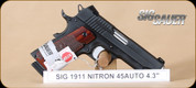 SIG - 1911 - 45ACP - Carry, Rosewood grips/black, 4.2""
