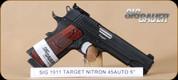 "SIG - 1911 - 45ACP - Target Nitron, adj. target sights, 5"""
