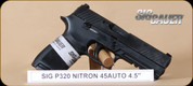 "SIG - P320 - 45ACP - Full, Nitron finish, fixed contrast sights, 4.5"""