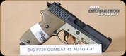 """SIG - P220 - 45ACP - Combat, FDE/Blk, 4.4"""""""