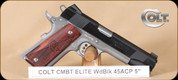 "Colt - Combat Elite - 45ACP - Wd/Two-Tone, 5"", Beavertail Grip/Thumb safety, restricted"
