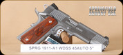 """Springfield - Loaded Stainless - 45ACP - Wd/SS, 2 mags, mag holster, 5"""""""