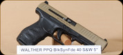 """Walther - PPQ M2 - 40S&W - BlkSyn/FDE, 5"""""""