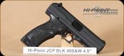 Hi-Point - JCP 40 - 40S&W - BlkSynBl, 4.5""