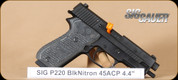 SIG - P220R - 45ACP - G10 grips, blued, Siglite night sights, 4.4""