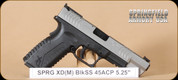"Springfield - XDM - 45ACP - BlkSynSS, 5.25"", 3 magazines, interchangeable backstraps"