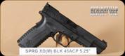 "Springfield - XDM - 45ACP - BlkSynBl, 5.25"", 3 magazines, interchangeable backstraps"