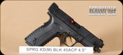 "Springfield - XDM - 45ACP - BlkSynBl, 4.5"", 2 magazines, interchangeable backstraps"
