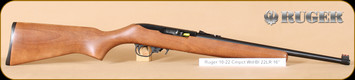 "Ruger - 10/22 - 22LR - Wd/Bl, Compact Rifle, Reduced 12.5"" LOP, 16.5"""